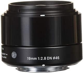 Sigma 19mm f/2.8 DN Lens for Micro Four Thirds Cameras (Black) (International Model) (No Warranty)