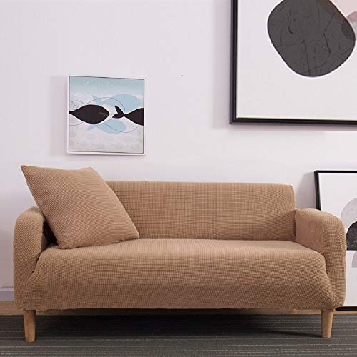 eaodz Elastic Sofa Cover, Classic Pattern, Spandex Sofa Cover for Knitting,Polyester Three-Seater Sofa (Within 190-230)