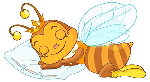 dekodino® Wandtattoo Biene schlafend Kinderzimmer Wandsticker Deko
