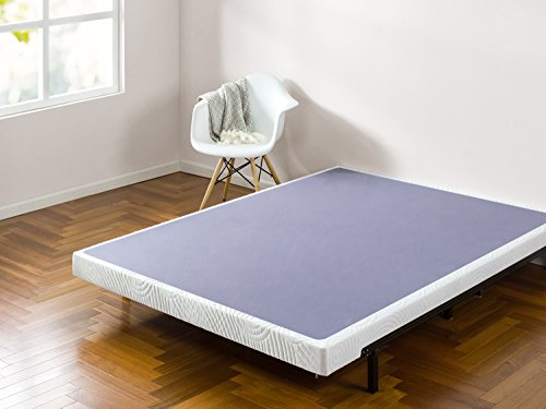 Zinus Walter 4 Inch Smart Box Spring / Mattress Foundation / Built-to-Last Wood & Metal Structure / Low Profile / Easy Assembly, Queen