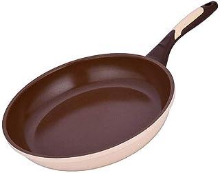 YWYW Wok antiadhésif avec Couvercle woks antiadhésifs et poêles à Frire avec revêtement craquelé Grand Wok à Sauter avec C...
