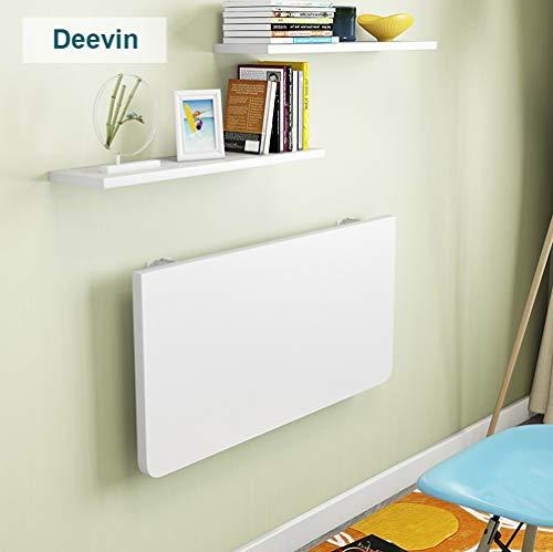 Deevin Tische Wandtisch Wand, Klappbarer Küchentisch, Wandmontierter Esstisch, Platzsparend, 3 Farben, 19 Größen
