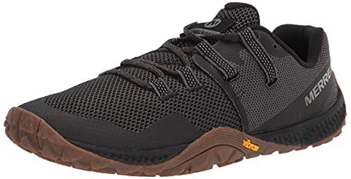 Merrell mens Trail Glove 6 Sneaker, Black/Gum, 9.5 US