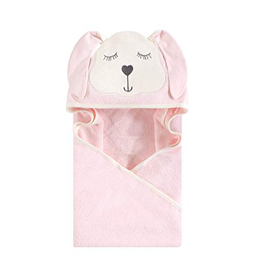 Hudson Baby Unisex Baby Animal Face Hooded Towel, Mint Bunny 1-Pack, One Size
