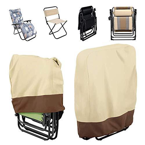 HaavPoois Funda para sillas plegables para Sillas Apiladas Jardín Impermeable Oxford Resistente,...