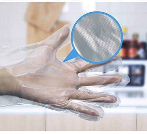 Guantes desechables de plástico para preparación de alimentos (200/400/1000 unidades),guantes desechables fruta y verdura, para Casa, Cocina, Jardín, Restaurante, talla única, transparentes