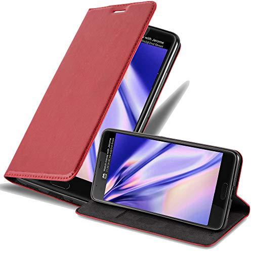 Cadorabo Hülle für HTC U Ultra - Hülle in Apfel ROT – Handyhülle mit Magnetverschluss, Standfunktion & Kartenfach - Hülle Cover Schutzhülle Etui Tasche Book Klapp Style