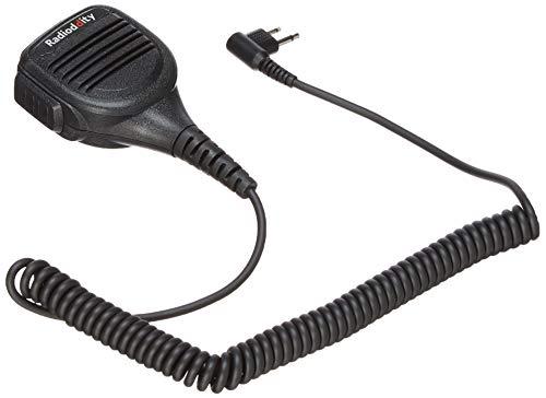 Radioddity RD-220 Speaker Mic for Motorola CP200 CP200D Xls PR400 EP450 GTX Gp300 P1225 CP185 P110 SP50 Radio Lapel Shoulder