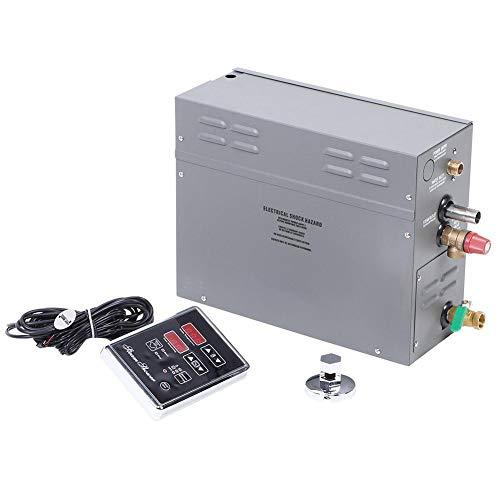 Generador de Vapor, 6KW Impermeable Generador de Vapor eléctrico para Sauna con Panel de visualización de Tiempo de Temperatura de Control táctil TM60(EU 220v)
