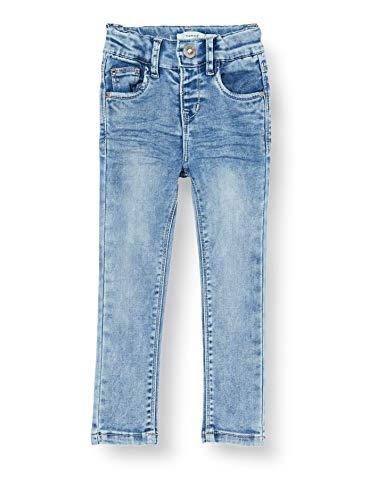 Name IT NOS Girls NKFPOLLY DNMTORA 2302 HW Pant NOOS Jeans, Medium Blue Denim, 128