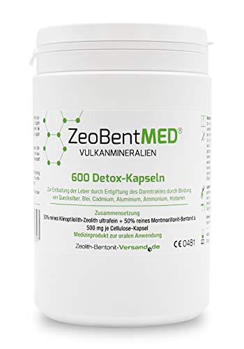 ZeoBent MED 600 Detox-Kapseln, CE zertifiziertes Medizinprodukt