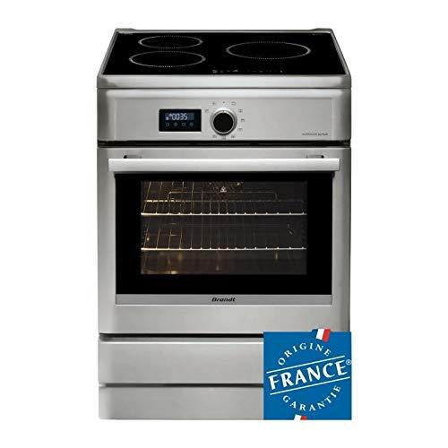 BRANDT BCI6658T-Cuisiniere table induction-3 zones-Four électrique-Pyrolyse-57 L-A-L 60 x H 85 cm-Silver