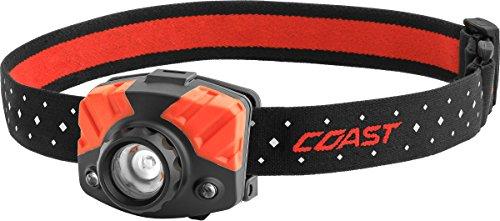 Coast FL75R Rechargeable 530 Lumen Dual Color Focusing LED Headlamp, Black