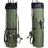 Croch Bolsa de caña Bolsa de Almacenamiento y Bolsa de Transporte para cañas de Pescar y Otros Aparejos de Pesca (A)