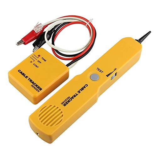 ZNSH Ethernet Tester, RJ11 perseguidor del Alambre del trazador de Red LAN Ethernet por Cable Teléfono portátil por Cable probador de continuidad Comprobación