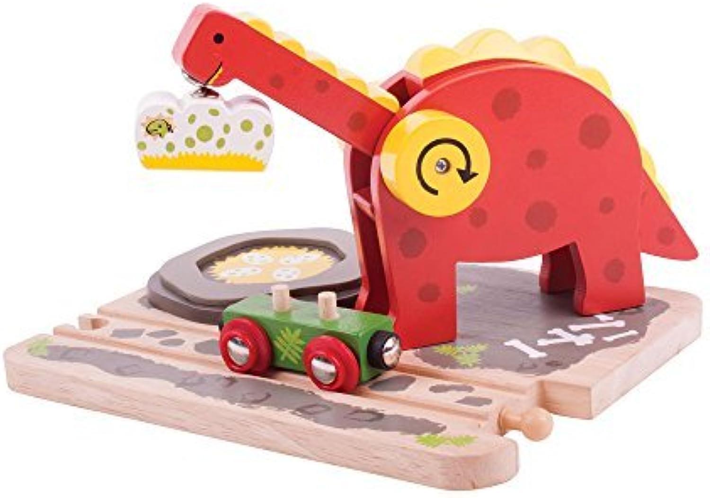 Bigjigs Toys Rail Dino Crane Train by Bigjigs Toys