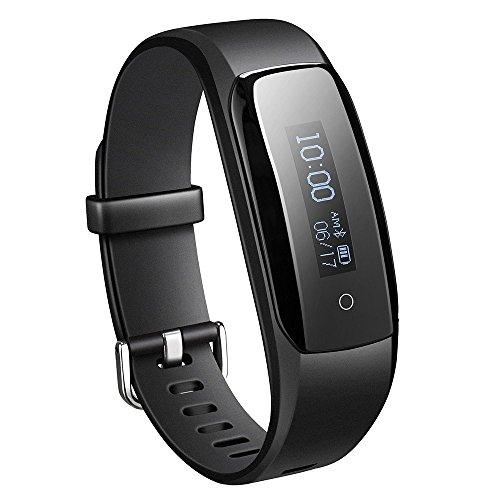 Pulsera Mpow Bluetooth 4.0 fitness con monitor de ritmo cardíaco Schwarz-0.87''OLED