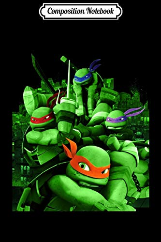 Composition Notebook: nage Mutant Ninja Turtles Mean Green Action Graphic  Journal/Notebook Blank Lined Ruled 6x9 100 Pages