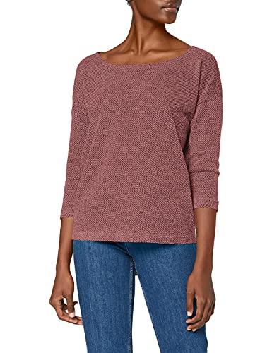ONLY Damen ONLALBA 3/4 TOP JRS NOOS T-Shirt, Violett (Dry Rose Dry Rose), Medium (Herstellergröße: M)