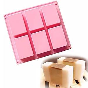 Allforhome (TM) - Molde rectangular de silicona con 6 huecos para hacer jabón u otras manualidades