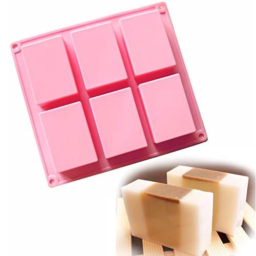 Allforhome TM - Molde rectangular silicona 6 huecos
