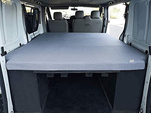 KFoam.es Colchón Plegable para Renault Trafic, Opel Vivaro y Nissan Primastar (2002-2014) 155x190x8 cm Color Gris