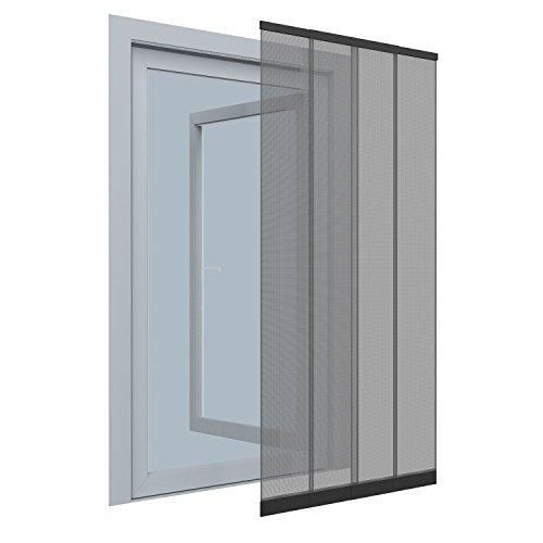 Insektenschutz-Vorhang - 100x220 cm - Teleskop-Lamellenvorhang für Türen mit Fliegengitter aus Polyester
