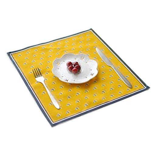 JIAYAN Tischset aus Baumwollleinen im nordischen Stil Tischsets aus Stoff im japanischen Stil Servietten Home Kitchen Bedruckte Untersetzer für Esstisch, B, USA