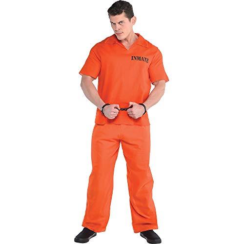 Amscan 840233 Orange Jail Prisoner Costume Set - Standard Size