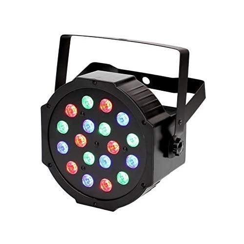 LED Par Light 18 LED Disco Light con modalità di controllo attivata dalla musica, auto-run e DMX512, 24W