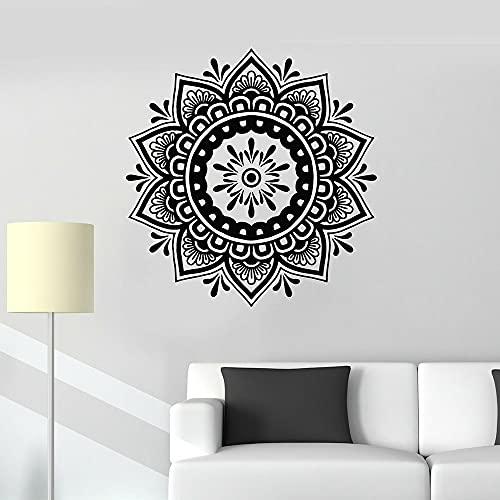 Mandala flor patrón etiqueta de la pared decoración del hogar dormitorio cabecera de fondo pared papel autoadhesivo A6 58x57cm