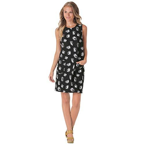 Mud Pie Women's Macy Shift Dress Black Ikat, Medium