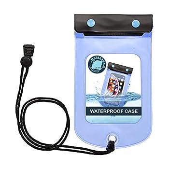 Lewis N Clark WaterSeals Triple Seal Waterproof Pouch + Dry Bag for Cell Phone or Tablet Great for Kayak Canoe Pool Beach Medium  5.6x4.5
