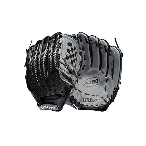 Wilson Sporting Goods A360 Baseball 12.5'' - Left Hand Throw,12.5'',Black, Large...