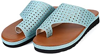 Bunion Sandals for Women Comfy, Leather Women Flip Flop Light Weight Ladys Shoes Wedge Sandals Suitable for Everyday Wear