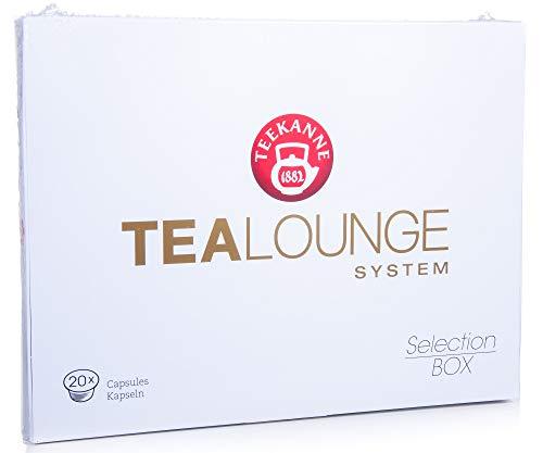 Teekanne Tealounge Kapseln, 20 Teekapseln Probierset, Geschenkbox