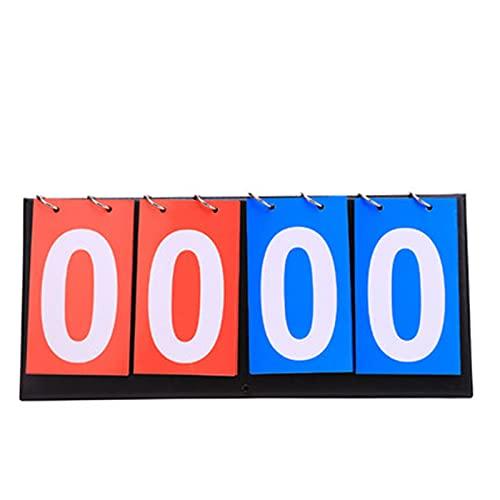 BaoYPP Deportivo Marcador El Marcador de Baloncesto de 4 dígitos Flip-Flop Puede Voltear el Juego del Juego del Tablero de la Placa de puntuación del Juego Gran Aplicación
