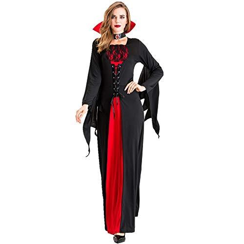 Dyljyf Retro Zwarte Dames Kostuum Cosplay Pasen Halloween Stage Prestaties Maskerade Kostuum
