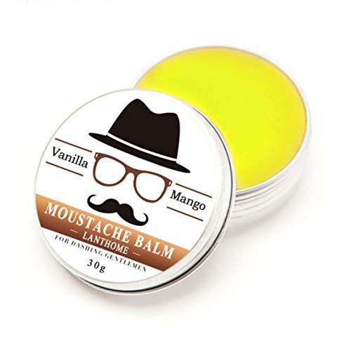 Logicstring Cera de Barba tónica de Estilo orgánico 100% de Moda, bálsamo para Bigote, Cera de Abejas, hidratante, Vainilla y Mango perfumado