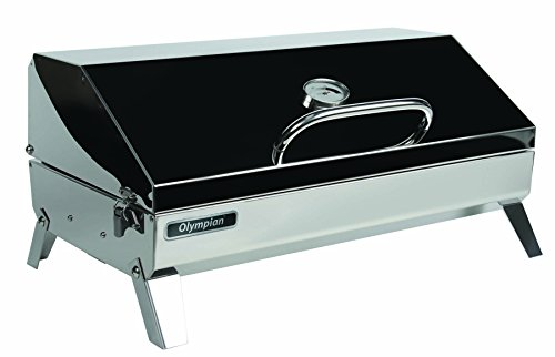 Camco Olympian 6500 Stainless Steel Portable Gas Grill Connects to Low Pressure...