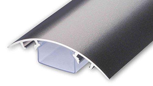 TV Design Aluminium Kabelkanal Titanium anthrazit seidenmatt lackiert in verschiedenen Längen von ALUNOVO (Länge: 100cm)