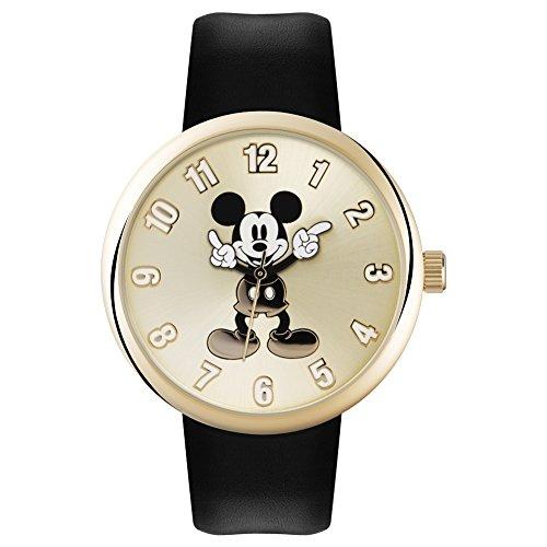 Mickey Mouse Unisex-Uhr Analog Quarz mit Polyurethanarmband – MK1443