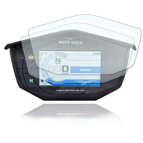 [2 Stück] Displayschutzfolie Tacho Schutzfolie geeignet für Moto Guzzi V85TT Panzerglas