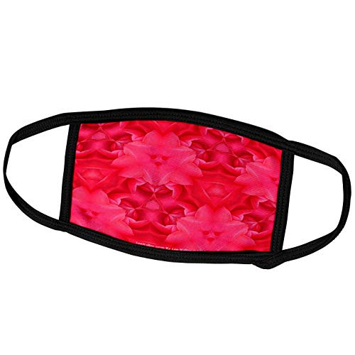 3dRose Lee Hiller Designs Kaleidoscope - Kaleidoscope Dark Pink Camilia - Face Covers (fc_5815_2)