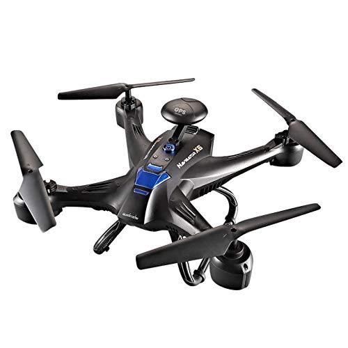 ZTBXQ Drone 720p Ultraleggero e Portatile Fotocamera GPS WiFi FPV HD Ilmiglior Drone per Principianti con Volo in Quota Traiettoria Volo 3D Inversione modalità Senza Testa Operazione