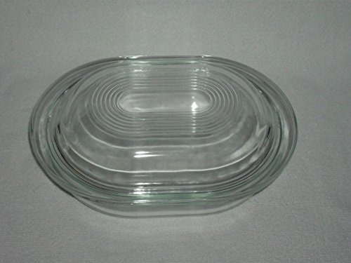 Pyrex Baking / Refrigerator Dish with Lid - Clear Glass
