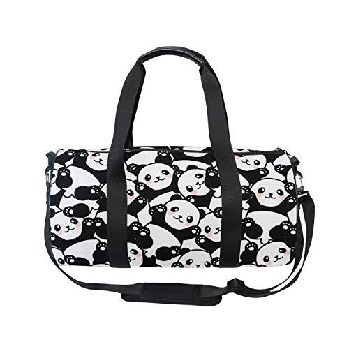 Mr.lucien Lindo Panda Personalizado Ligero Bolso Sonrisa Concisa Infantil Q Versión Cuento de Hadas de dibujos animados Yoga Gimnasio Totes Gran Bolsa 2020016