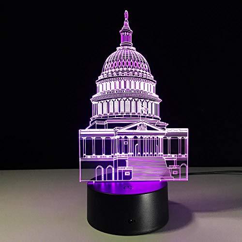 Luz De Noche Led Casa Blanca Colorida Lámpara De Noche 3D Acrílico Grabado Láser Arte Led Dormitorio Mesita De Noche Lámpara Usb 3D Ilusión Lámpara De Escritorio Deco