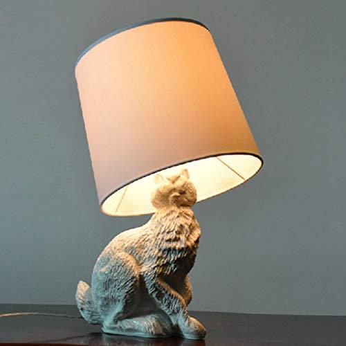 Lámparas de noche White Lightning escultural Conejo lámpara de mesa w/Sombra Negro 20 pulgadas Lámpara de mesa de noche