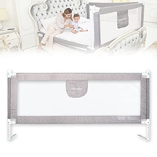 Bed Rail for Toddlers 78' L, Infants Safety Bed Guardrail, Baby Protector Rail with Breathable Fabric for Extra Long Twin Full Size Queen King Size (80-1 Side)